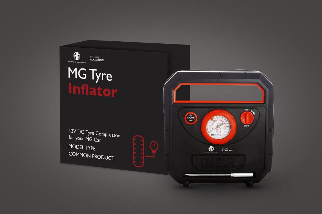 MG Motor Tyre Inflator Packaging