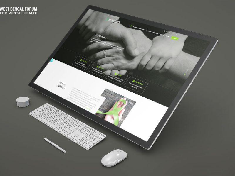 West Bengal Forum for Mental Health Website Mockup